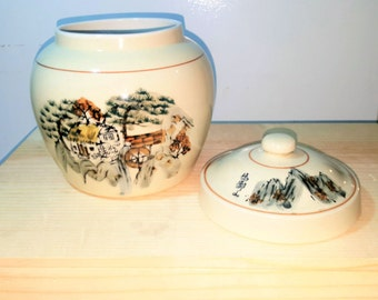 Art Deco House Storage Biscuit Jar Carlton Ware Pottery