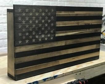 Rustic Gun Case, Conceal Rustic Flag, Conceal Flag Box, Conceal Flag,  Rustic Flag, American Flag Art, Flag Box, Gun Safe, Hidden Compartment