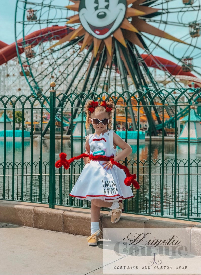 d1819e065 Forky Tank Top Disneybound Full Twirly Skirt Dress white | Etsy