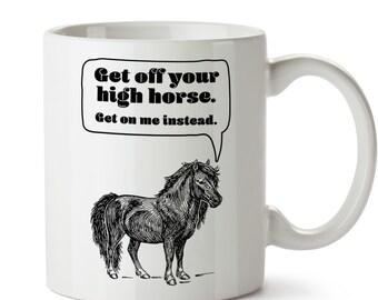 Shetland Pony Mug / Horse Coffee Cup / Horse Lover / Gift for Horse Lover / Horse Kitchen / Ceramic Horse Mug / Funny Horse / Horse Puns