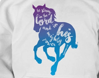 Kids Horse Hoodie / Youth Horse Clothing / Gift for Horse Lover Kid / Equestrian Gift / Horse Clothes / Hoody / Horse Apparel / Bible