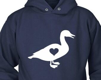 Duck Hoodie, Duck Gift, Duck Lovers Gift, Gift for Duck Lover, Duck Sweater, Duck Clothing, Farm Hoodie, Duck Gift For Her, Duck Present