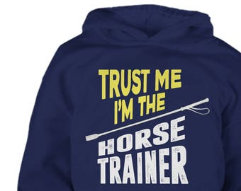 Kids Horse Trainer Hoodie, Youth Horse Hoodie, All The Horses, Horse Clothing, horse hoody, gift for horse lover, equestrian gift, Riding