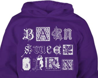 Youth Horse Hoodie / Horse Barn Sweet Barn / Horse Clothing / gift for horse lover / equestrian gift / horse clothes / hoody / Horse Apparel