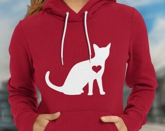 Cat Hoodie / Kitten Hoodie / Gift for Cat Lover / Cat Gift / Kitty Cat Lover / Cat Clothing / Cat Birthday Party / Crazy Cat / Cat Sweater