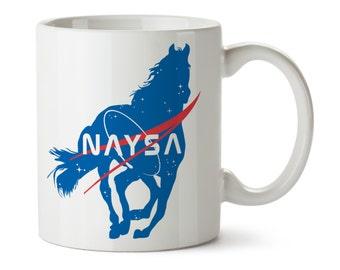 Horse Mug / Horse Coffee / Equestrian Mug / Equestrian Gifts / Horse Gifts / NASA / Space Horses / Coffee