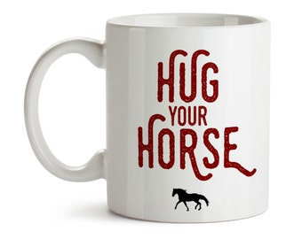 Horse Mug / Horse Gifts / Horse Kitchen Drinkware / Horse Coffee Tea Cup / Equestrian Gifts / Coffee Lover / Gift for Horse Lover Owner Cool