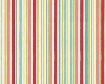 Multi Color Stripe Fabric - Riley Blake Hello Gorgeous Mint Stripe Fabric - Rainbow Stripe Fabric