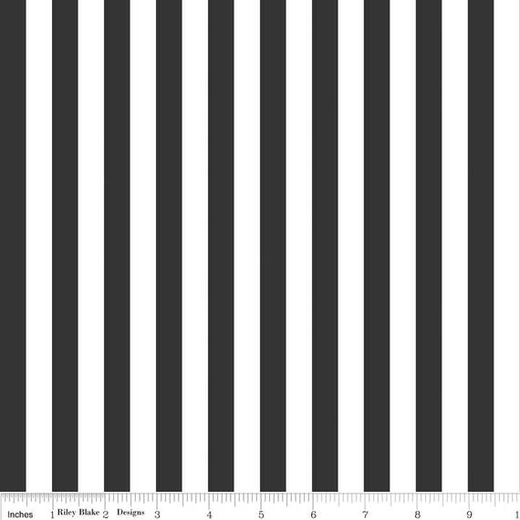Black And White Stripe Fabric Riley Blake Designs 12 Etsy