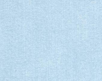 Light Blue Fabric - Riley Blake Lucky Star Fabric - Light Blue Denim Looking Fabric