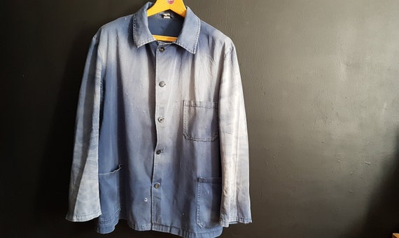 Vintage German work jacket size  sun bleached sun