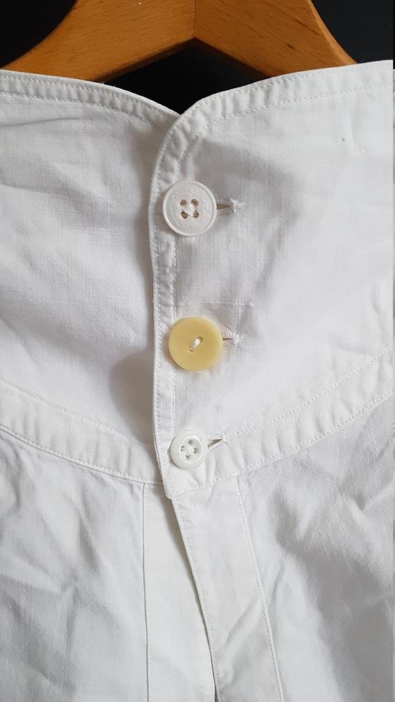 Antique French mens linen drawers underwear breech