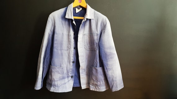 Vintage German work jacket size 52 M sun bleached