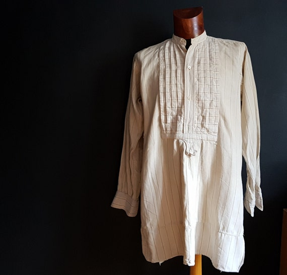 Vintage French  work shirt pullover smock workwear