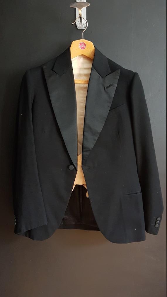 Vintage French tuxedo evening jacket and waistcoat