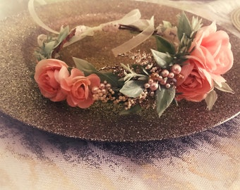 Child/adult Embellished Flower Crown Halo