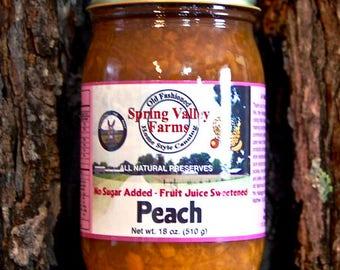 Spring Valley Farms Peach Preserves (No Sugar Added)     (18oz)