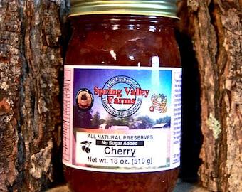 Spring Valley Farms Cherry Preserves (No Sugar Added)     (18oz)