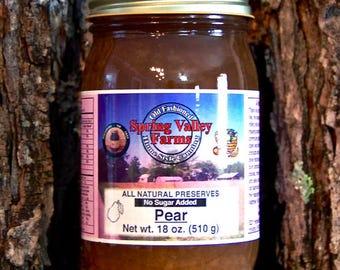 Spring Valley Farms Pear Preserves (No Sugar Added)             18oz