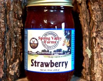 Spring Valley Farms Strawberry Preserves Regular