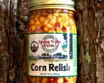 Spring Valley Farms Corn Relish  (16oz)