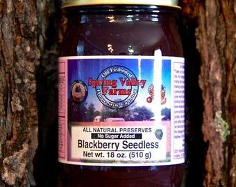 Spring Valley Farms Blackberry Seedless Preserves (No Sugar Added)    18oz