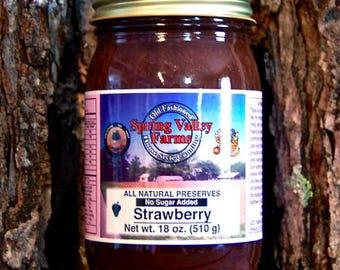 Spring Valley Farms Strawberry Preserves (No Sugar Added)  (18oz)