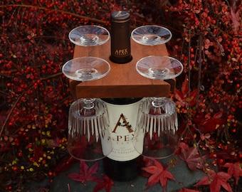 Red Wine Butler Wine Caddy Wine glass holder