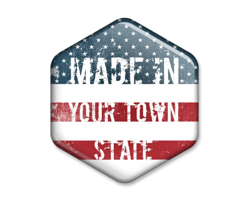 Customized MADE IN Your Town, State Hexagonal Magnet // Unique Bespoke  Individualized Present Six-sided Fridge Magnet Refrigerator Magnet