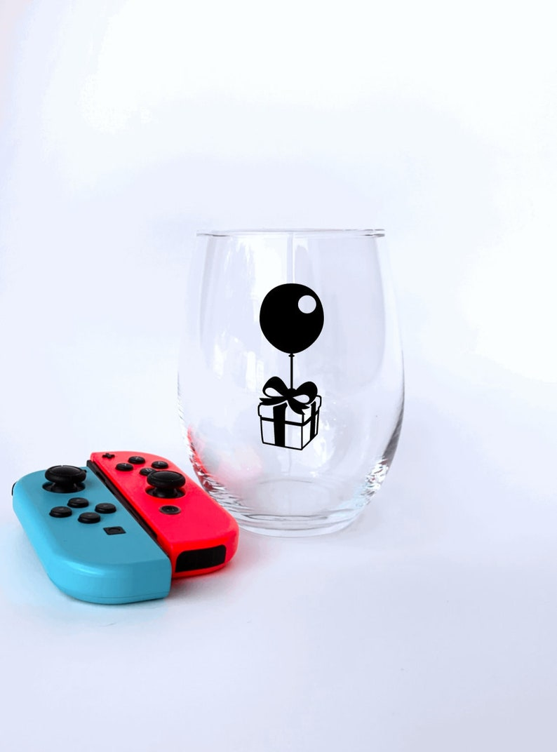 ACNH New Horizons Floating Balloon Present Gift Cup Animal Crossing Wine Glass