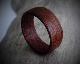 Custom Made Wooden Ring - Bohemian Jewelry - Ecofriendly Jewelry - Bent Wood Ring - Wood Ring - Coupes Ring - Gift for Him - Gift for Her