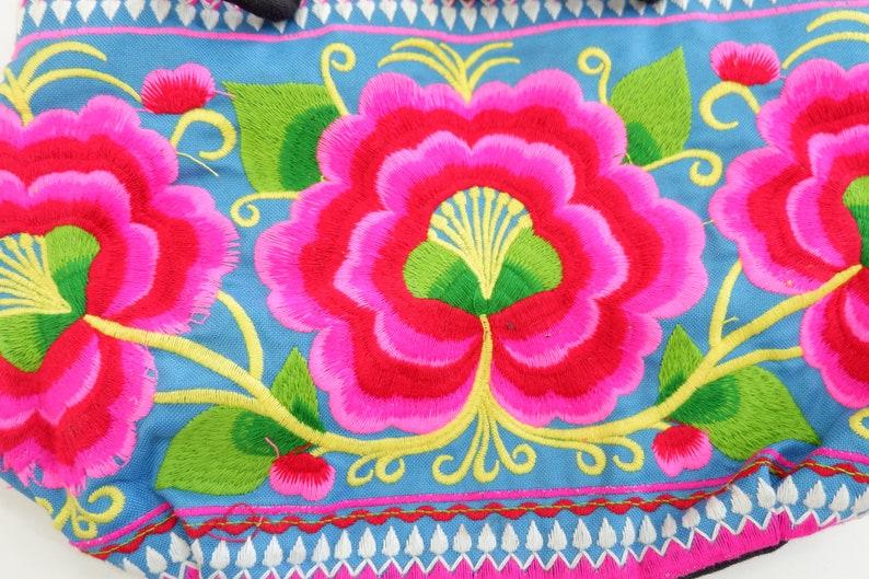Small Handbag With Hmong Embroidered Fabric