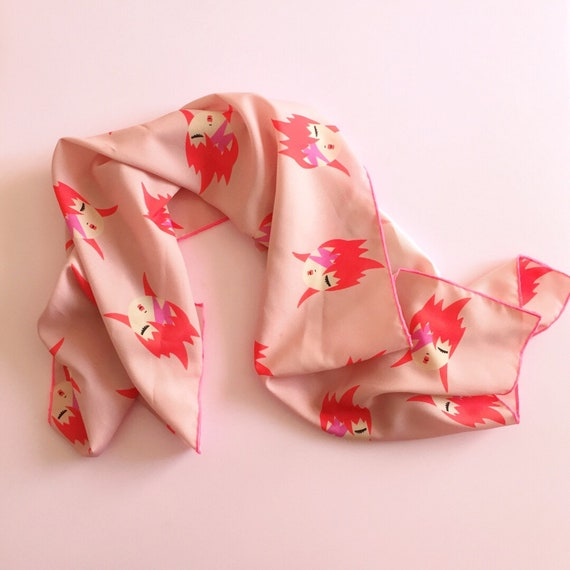 Ziggy scarf Bowie (c) Exclusive print