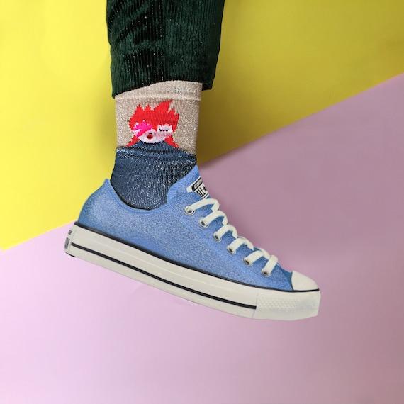 Glam rock ziggy socks   kids and adults sizes