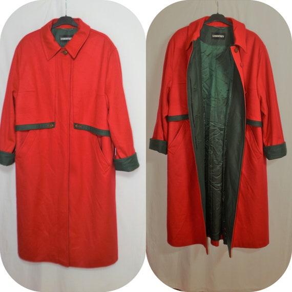 LODENFREY Austrian Women Wool Coat Size L/44 Red L