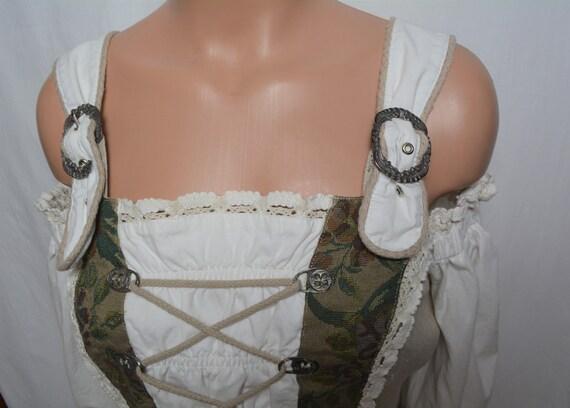 Vintage Dirndl Women Linen Corset Top Size M/40 P… - image 5