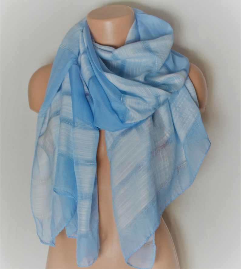 Blue Poppy Long Scarf Throw Wrap Shawl lovely material brand new