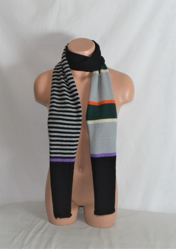 Retro Codello Wool Long Scarf Striped Men's Wool L