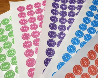 PERSONALIZED Pricing Stickers