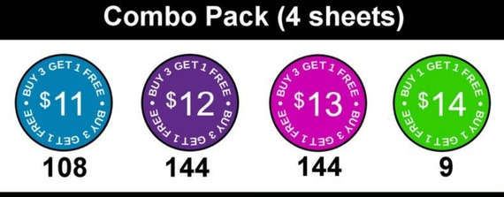Color Street Pricing Stickers with B3G1 and B1G1