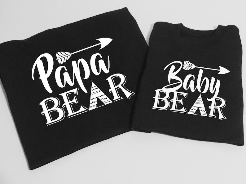 fb430e90b1820 Papa ours fête des pères bébé ours ensembles cadeau pour