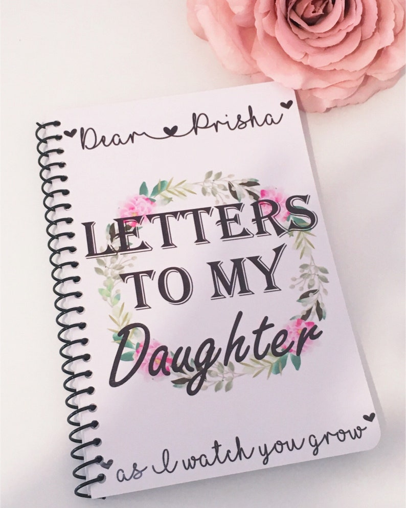 Letters To My Daughter, Mom Notebook, Personalised Notebook, Memory Book,  Notebooks, New Mummy Gift, Gift For Mum, Mother Gifts, Lined Notes