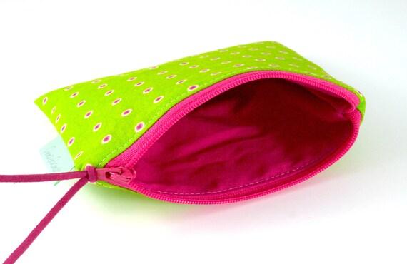 Teacher gift Coin purse Polka dot zipper pouch Small makeup zip bag Purses for women Small accessory pouch Gift under 10