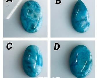 Natural Larimar Cabochon blue Larimar Gemstone Top Quality Larimar Loose stone Hand Polish Jewellery making Pear 19 Ct 27 X 21 mm #1517