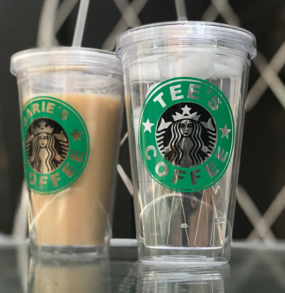 Personalized Inspired Starbucks Tumbler With Plastic Straw