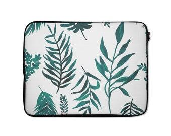 Laptop Sleeve, Palm print, tropical Print, laptop sleeve 13 inch, 15 inch laptop sleeve, MacBook cover, laptop cover, protective case, palm