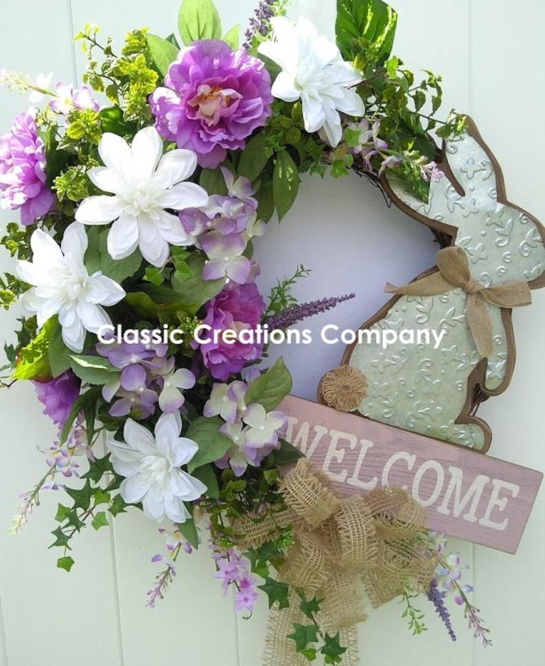 Bunny Wreath Spring Wreath Grapevine Wreath Easter Wreath Welcome Wreath