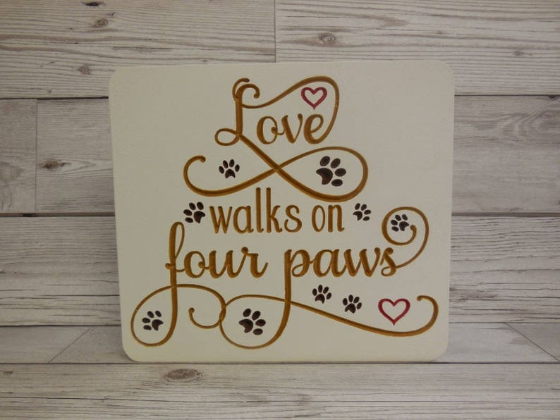 Love walks on four paws Dog lover fan New pet owner Cats image 0