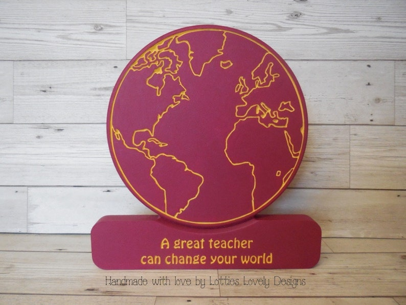 A great teacher can change your world globe gift teacher image 0