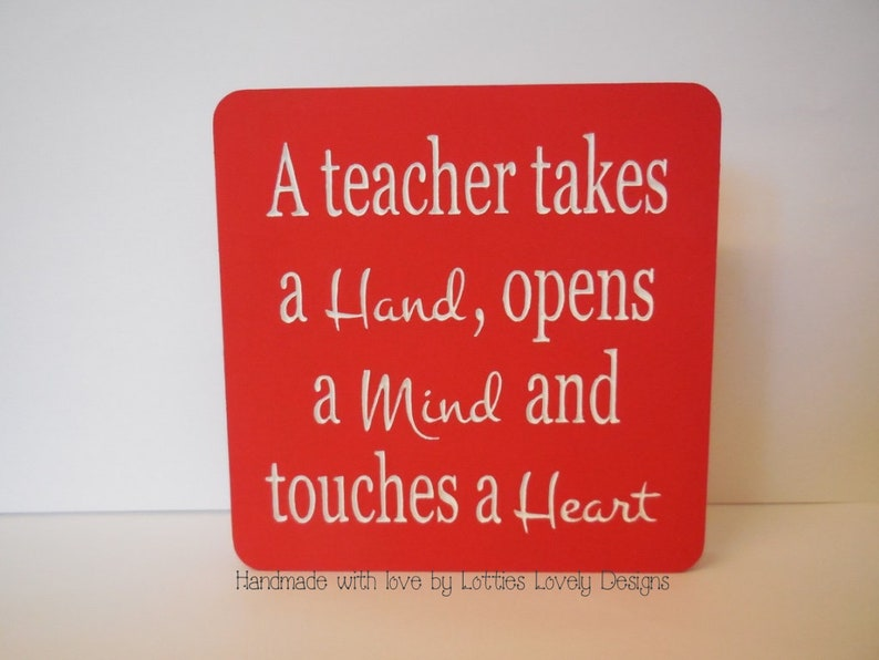 A teacher takes a hand quote teacher quote plaque gift End image 0
